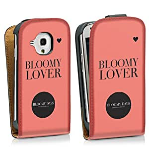 Diseño para Samsung Galaxy S3 Mini I8190 DesignTasche Downflip black - BLOOMY LOVER