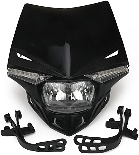 12V,luce carenatura per Honda Kawasaki Suzuki Yamaha KTM,nero Faretti LED Moto,lampada led moto