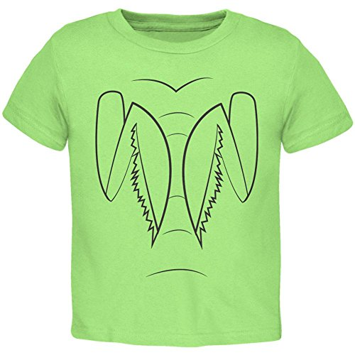 Halloween Praying Mantis Costume Toddler T Shirt Lime 4T
