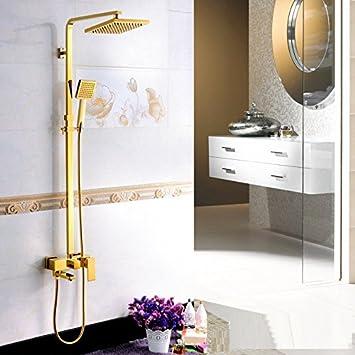 ZYJY Badezimmer zu Hause ZYJYdusche Europa Kupfer Kupfer Blumen ...