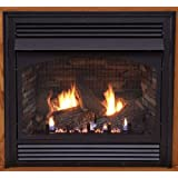Premium 32 Vent-Free Millivolt Control NG Fireplace with Blower