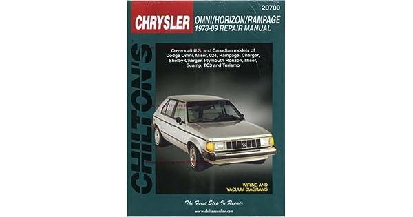 89 dodge omni wiring amazon com chrysler omni  horizon  and rampage  1978 89  chilton  amazon com chrysler omni  horizon  and