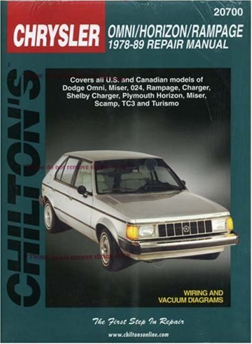 Omni Owners Manual (Chrysler Omni, Horizon, and Rampage, 1978-89 (Chilton Total Car Care Series Manuals))
