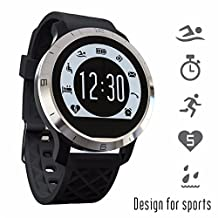 Leydee Smart Watch IP68 Waterproof Swimming Modle Recognition Bluetooth Call Message Reminder Pedometer Sleep Monintor Health Fitness Tracker Wearable Device for Android IOS