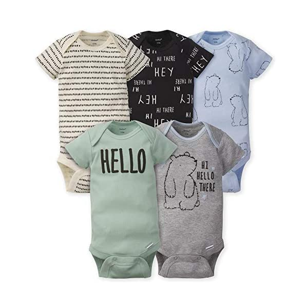 Gerber baby-boys 5-pack Variety Onesies Bodysuits