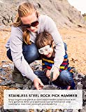 INCLY Rockhounding Geology Hammer Tool, Rock Pick