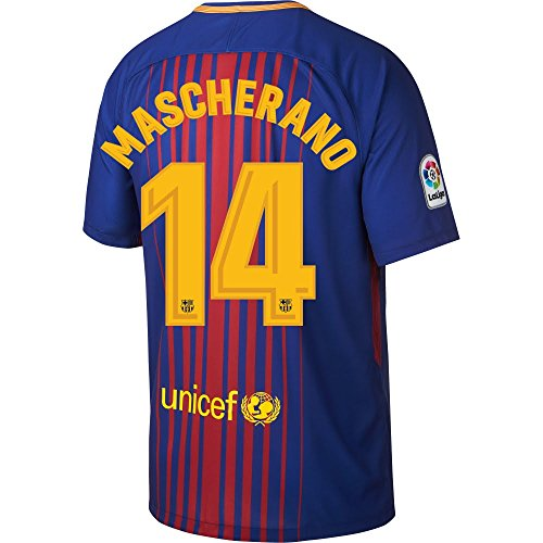 Barcelona Home Mascherano Jersey 2017 / 2017 (Official Printing) - L