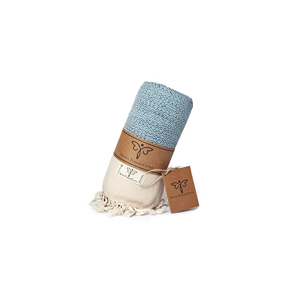 Smyrna Original Turkish Throw Blanket   100% Cotton, 50 x 60 Inches   Vintage Decorative Boho Throw Blankets for Couch…