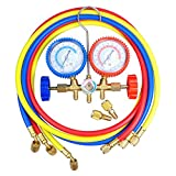 Yescom R410a Refrigerant Manifold Gauges 5' Hoses Hvac Halogen Diagnostic Tools