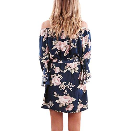 Robe De Floral Dcontractes De Jupes t Dames Bleu Robes L Robes Mini Plage Robe Yahoo Plage Robe D'paule Off Sans Femmes Robes Filles Bleu Chaud Court D't Manches znqvwOxEZ