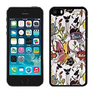 Lovely Sakroots 20 iPhone 5c 5th Generation Black Phone Case
