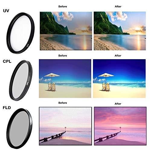 77mm Multi-Coated 3 Piece Filter Kit (UV, CPL, FLD) for Nikon 24-120mm f/4G Lens ()