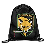 Metal Gear FoxHound Logo Blood Dripping Drawstring Backpack Bag White