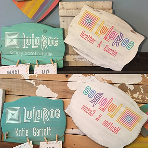 Lularoe reversible mirror and regular image live popup boutique sign - Free name personalization!