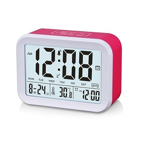 Green Home 1 1 pc reloj luz detección Snooze Digital alarma inteligente LED despertador sueño reloj