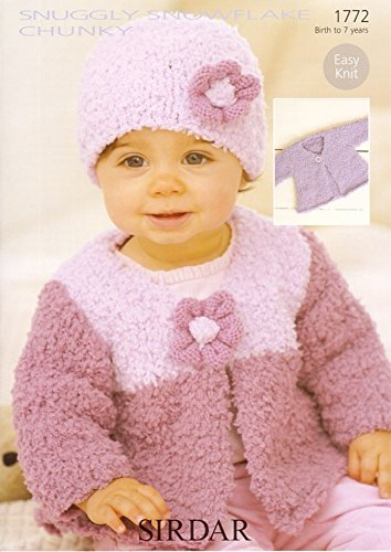 Sirdar Snuggly Snowflake Chunky Baby Knitting Pattern 1772 By Sirdar