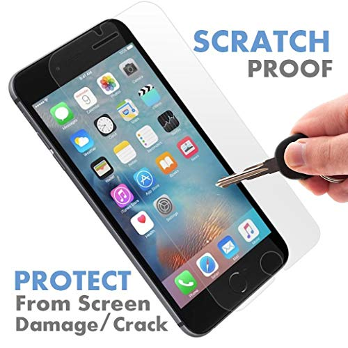 ⚡ [ PREMIUM ] Apple iPhone 7 Plus Tempered Glass Screen Protector - Shield, Guard & Protect Phone From Crash & Scratch - Anti Smudge, Fingerprint Resistant, Shatter Proof - Best Front Cover Protecti