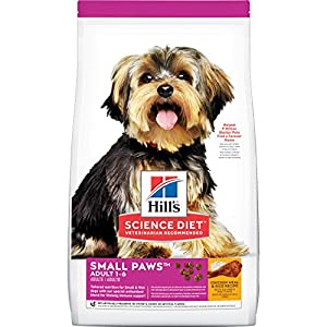 Hill's Science Diet Adult Small Paws Chicken Meal & Rice Recipe Dry Dog Food, 4.5 lb bag 1