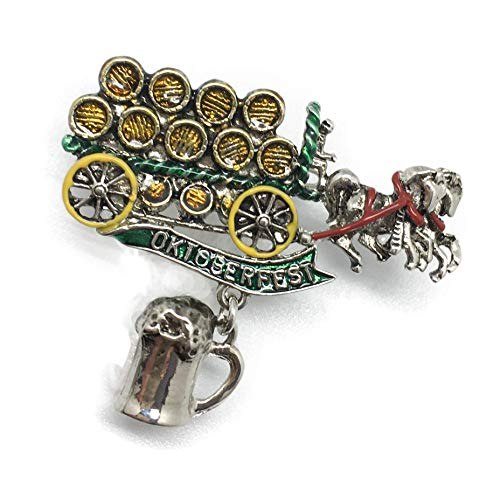 (Oktoberfest Beer Wagon Hat Pin with)