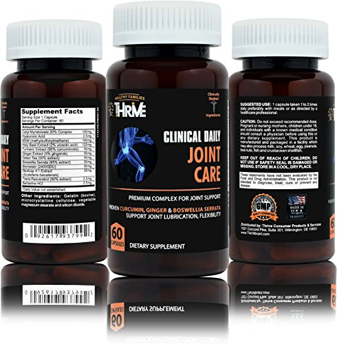 CLINICAL DAILY Joint Care Supplement Now With Turmeric, Cetyl M, MSM, Boswellia Serrata and Bromelain. Anti Inflammatory Arthritis Joint Lubrication Supports Joint Pain and Flexibility. 60 ()