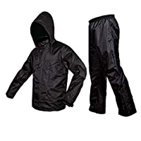 Zavia Premium Plain Rain Coat (Black)