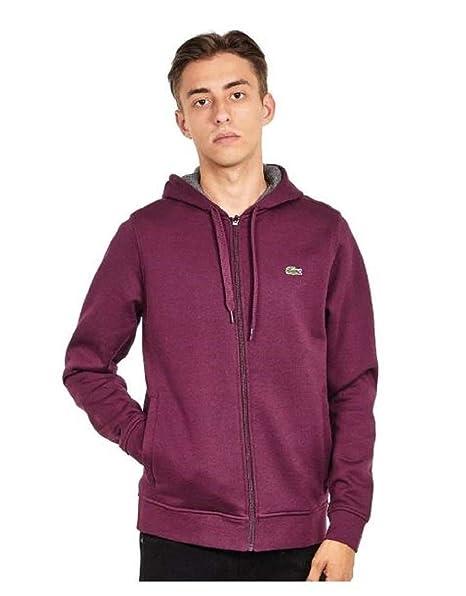 overlegen kvalitet blive billig et par dage væk Lacoste Brushed Fleece Zip-Up Hoodie - BlackBerry Chine/Pitch