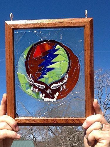 Stealie Stained Glass Window Art Sun Catcher Grateful Dead