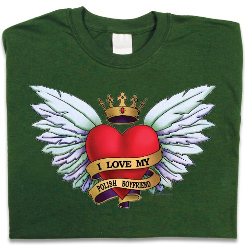 Polish Apparel Heart Tattoo, Polish Boyfriend – T-Shirt