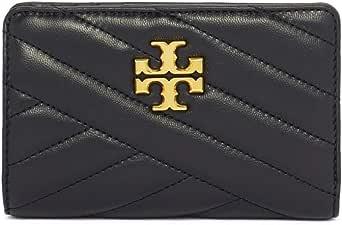 توري بورش محفظة بطبقتين جلد للنساء ، اسود