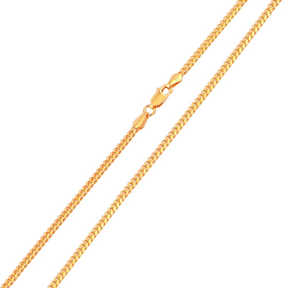 CloseoutWarehouse Rose Gold-Tone Plated Sterling Silver Miami Curb 080 Chain 2.6mm
