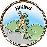 Hiking Award, 1 inch dia Gold Pin ''Outdoor Skills Collection'' by Keepsake Awards