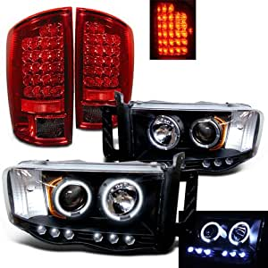 Amazon  Rxmotoring    2004       Dodge       Ram    3500    Headlights    Projector  Led Tail Light  Automotive