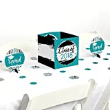 Teal Grad - Best is Yet to Come - Turquoise 2018 Graduation Party Centerpiece & Table Decoration Kit