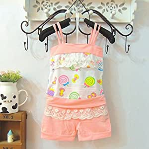 Summer Baby Kid Girl Clothing Outfits Strap Top Vest + Short Pants