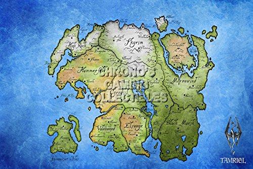 """CGC Huge Poster - Elder Scrolls Online Tamriel Map XBOX 360 ONE PS3 PS4 - EDS010 (24"""" X 36"""")"""