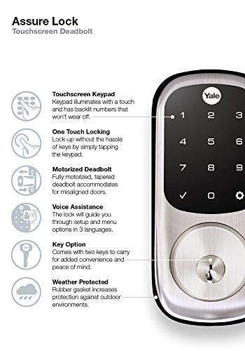 Yale Real Living Keyless Touchscreen Z-Wave Deadbolt