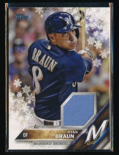 RYAN BRAUN 2016 TOPPS WALMART HOLIDAY SNOWFLAKE JERESY *MILWAUKEE BREWERS*