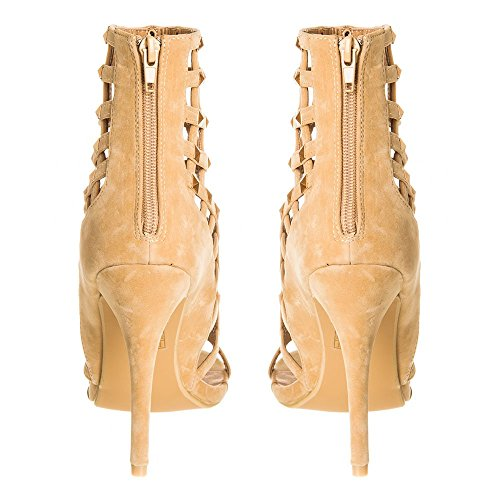 Miss Nude Mujer Con Diva Zapatos Suedette Tacón pfpw0qxS