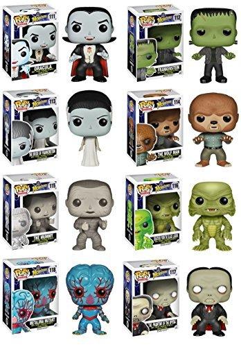 Complete Set of 8 Universal Monsters Pop! Figures: Dracula, Frankenstein & His Bride, Wolfman, Mummy, Creature from the Black Lagoon, Phantom of the Opera & Metaluna Mutant - The Mummy Pop