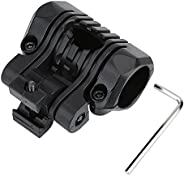 Flashlight Helmet Holder, Asixx Plastic Release Flashlight Holder Clamp or Tactical Airsoft Flashlight Clamp,