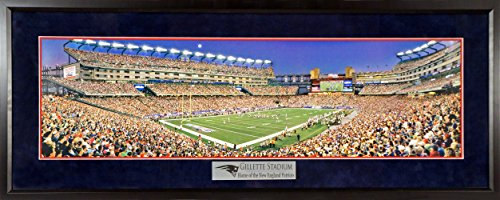 "New England Patriots ""Moon Over Gillette"" Panoramic Framed (Deluxe)"