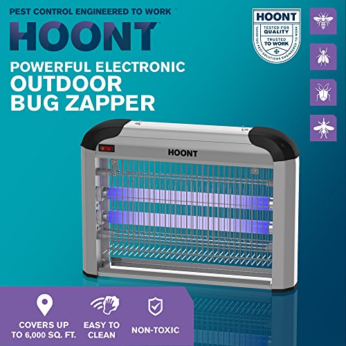 Hoont Powerful Electric Indoor Fly Zapper and Bug Zapper Trap Catcher Killer – Covers 6,000 Sq. Ft / Bug and Fly Killer, Mosquito Killer Insect Killer – For Residential and Commercial Use [UPGRADED] - coolthings.us