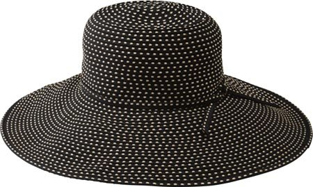 San Diego Women's Ribbon Braid Hat With 5 Inch Brim,Black,One Size