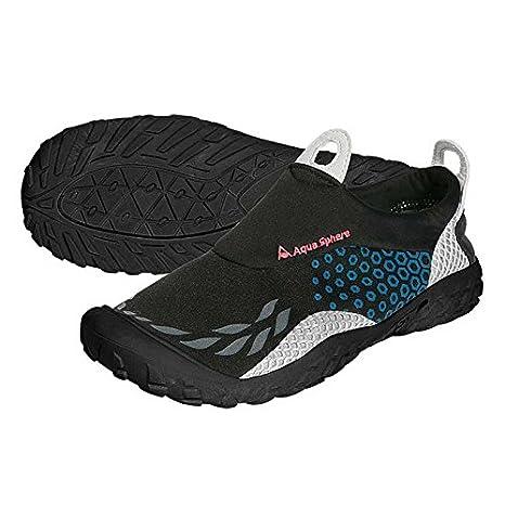Aqua Sphere Agua Zapatos Zapatillas Deportivas, Color Negro/Azul: Amazon.es: Deportes y aire libre