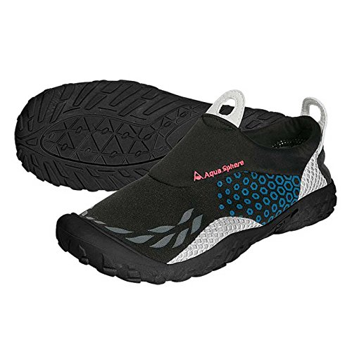 Aqua Sphere agua zapatos Zapatillas Deportivas, color negro/azul