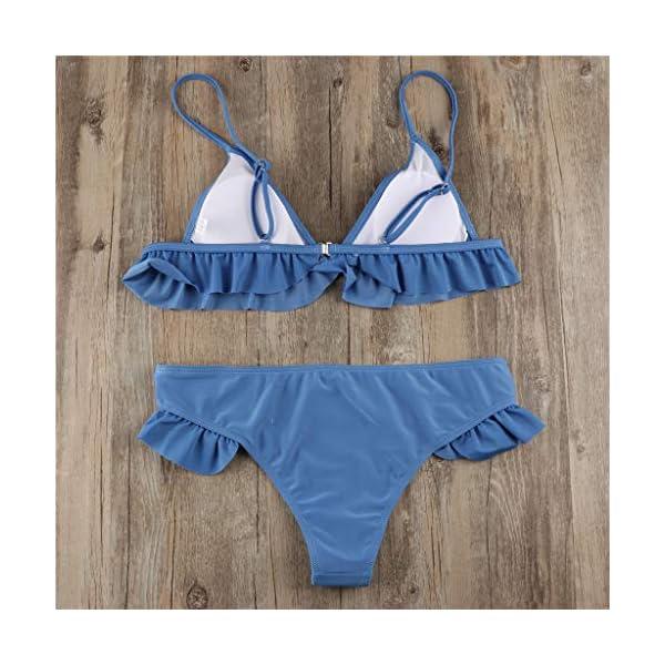 Costumi Donna Mare Due Pezzi Vita Alta Push Up Sexy 2019, Brasiliana Triangolo,Bikini Donna Mare Stampa Floreale Bikini… 5 spesavip
