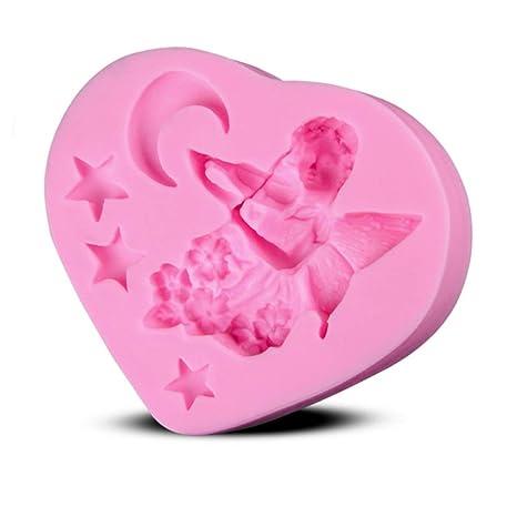 Ruikey ángel Estrella Luna Creativo Silicona jabón Molde Chocolate fundente Pastel Molde decoración pastelería DIY Molde. Pasa el ratón por encima de ...