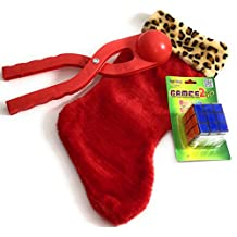 Christmas Stocking 3 PC Gift Bundle With Magic Rubik's Cube and Red Snowball Maker