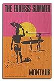 Montauk, New York - The Endless Summer - Original Movie Poster (10x15 Wood Wall Sign, Wall Decor Ready to Hang)