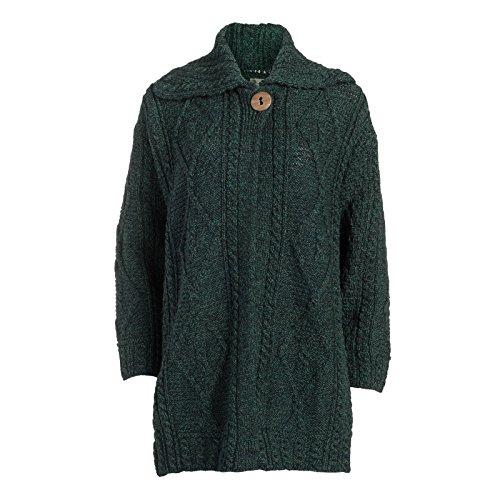 Boyne Valley Knitwear Ladies Single Button Wool Coat (Large)